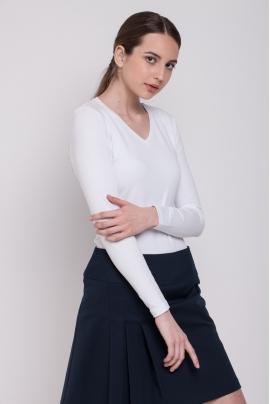 Marškinėliai ilgomis rankovėmis V formos kaklu
