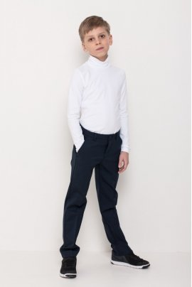 Boys polo neck, white