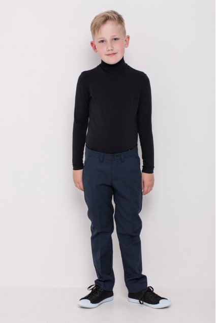 Boys polo neck, black