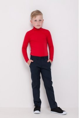 Boys polo neck, red