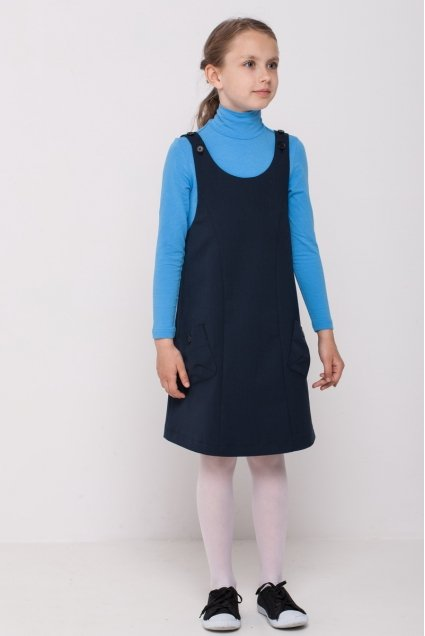Girls polo neck, light blue