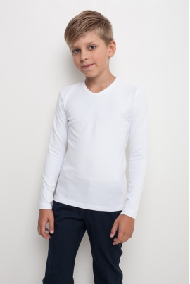 T-shirt with long sleeves V-neck