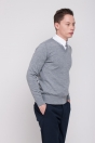 Men's sweater, thin, grey