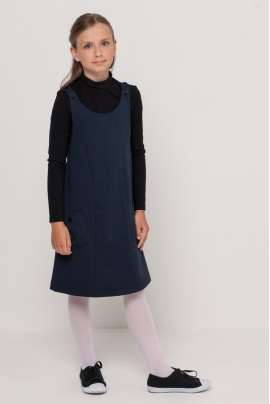 Girls polo neck, black