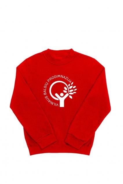 Vilniaus Balsių  progimnazijos džemperis su didele emblema