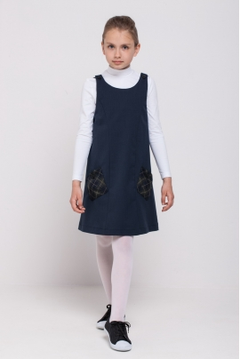 Girls polo neck, white
