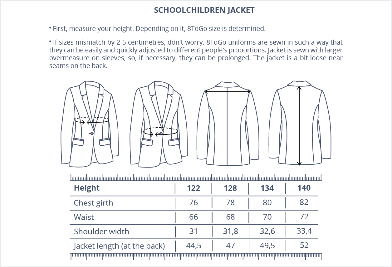 Schoolchildren jacket